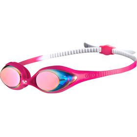 arena Spider Mirror Lunettes de protection Enfant, white-pink-fuchsia